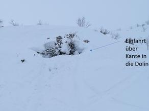 Snowboarder aus Doline am Feuerkogel in Ebensee geborgen