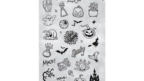 STAMPING PLATE 41 TRICK OR TREAT Item No. 118644