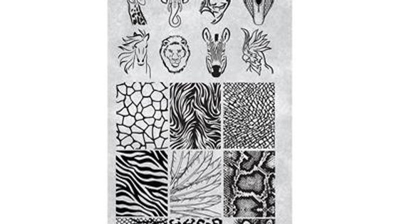 STAMPING PLATE 33 ANIMALS NEW Item No. 118636
