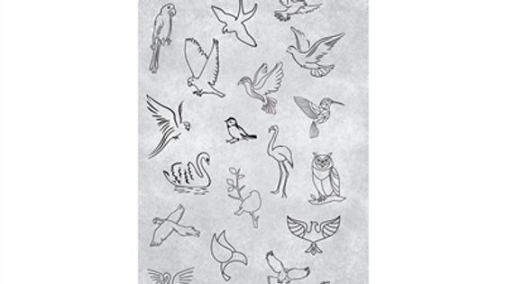 STAMPING PLATE 24 BIRDS Item No. 118627