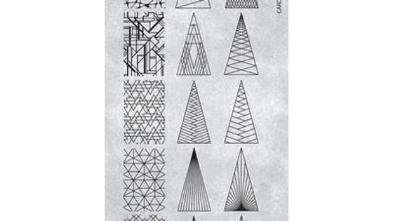 STAMPING PLATE 21 PYRAMID ELEMENTS Item No. 11862