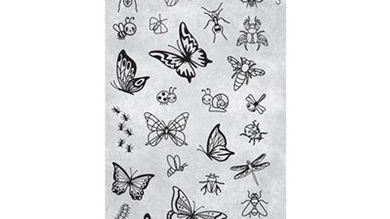 STAMPING PLATE 28 INSECTS AND BUGS Item No. 118631