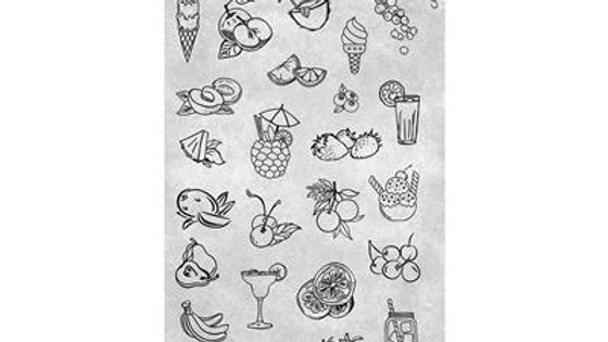STAMPING PLATE 37 TEQUILLA SUNRISE Item No. 118640