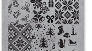 STAMPING PLATE 09 CHRISTMAS Item No. 118612