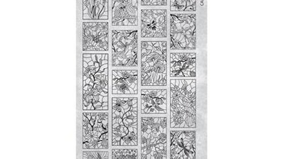 STAMPING PLATE 35 STAINED GLASS 2 Item No. 118638