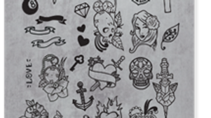 STAMPING PLATE 11 TATTOO Item No. 118614