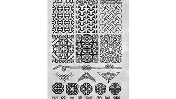STAMPING PLATE 39 CELTIC KNOTS Item No. 118642