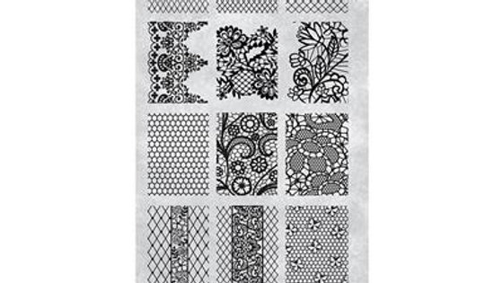 STAMPING PLATE 30 VINTAGE LACE Item No. 118633