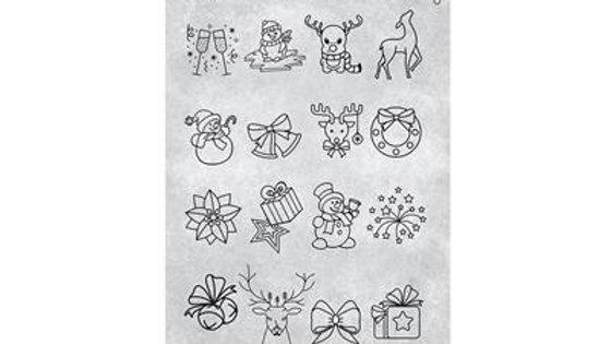 STAMPING PLATE 27 CHRISTMAS 3 Item No. 118630