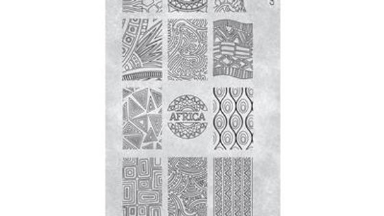 STAMPING PLATE 22 AFRICAN VIBES Item No. 118625