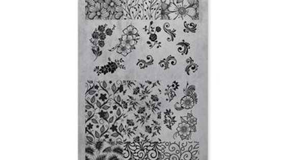 STAMPING PLATE 03 FLORAL Item No. 118602