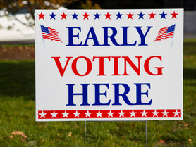 COVID-19 Precautions at Runoff Early Voting Sites in Katy