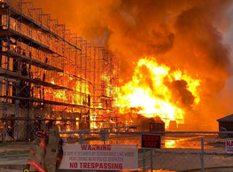 3-Alarm Fire in Katy Destroys Apartment Complex Construction Site