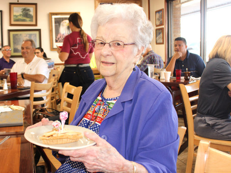 Katy Resident Gets Her 100th Birthday Wish for Breakfast at Snappy's