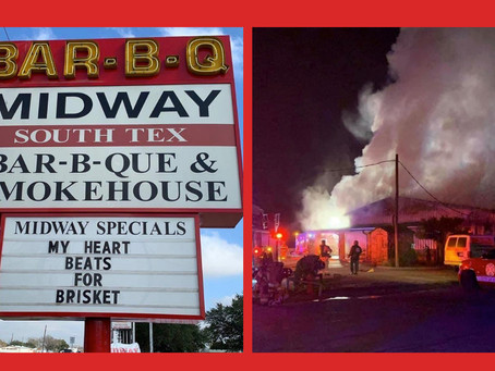 Katy's Popular Midway Bar-B-Q Damaged in Fire