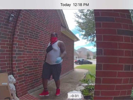 Katy Porch Pirates Caught on Camera, Suspects at Large