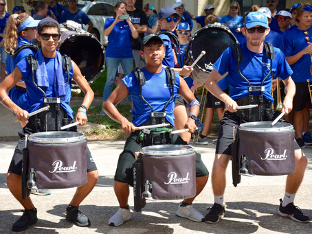 Watch JET Band from Taylor HS March Through Your Neighborhood this Weekend