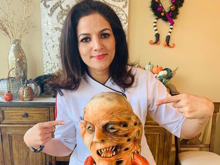 Katy Baker Terrifies Judges in 'Halloween Wars'
