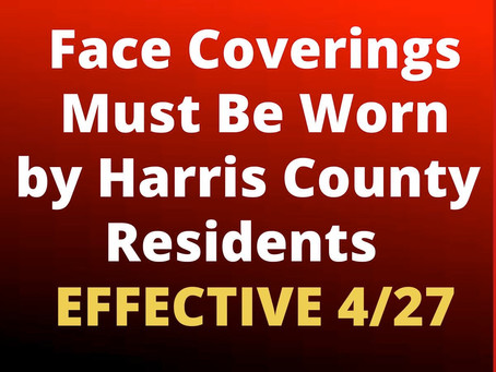 Judge Hidalgo Orders Harris County Residents to Wear Face Coverings for 30 Days