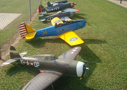 Remote-Control Planes Fly in Formation at Free Family Event in Katy