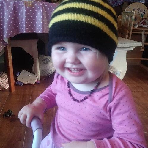 baby bumblebee beanie