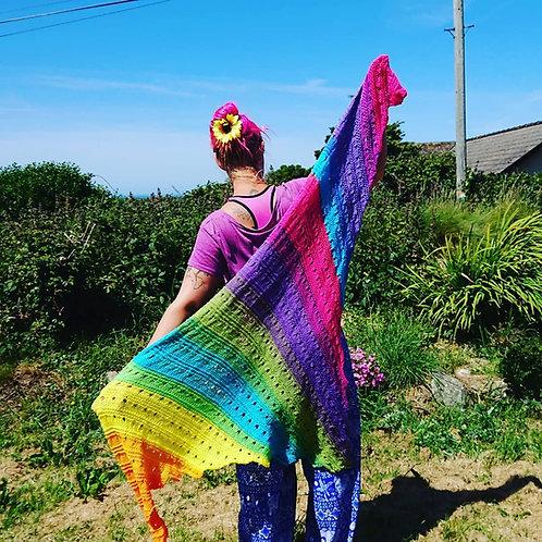 large rainbow shawl