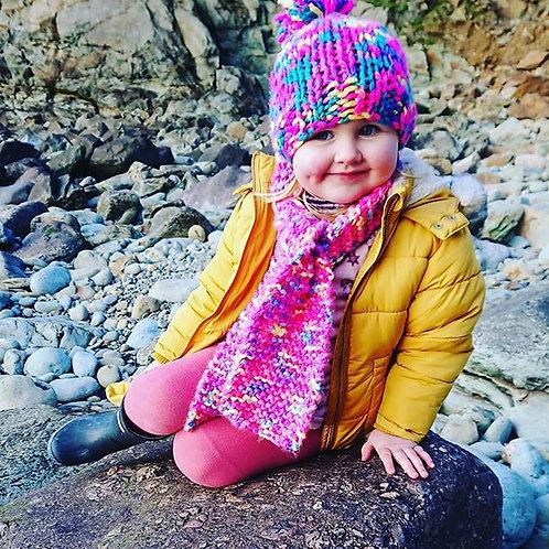 childrens flourescent scarf