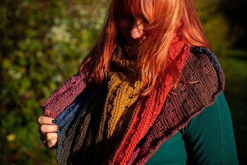 Large rainbow shawl