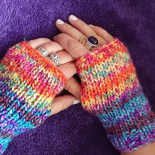 rainbow rio wrist warmers