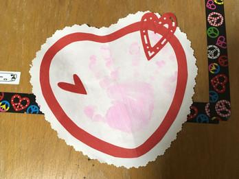 バレンタインカード工作始まりました💗