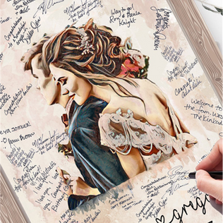 What about signing a custom painting of you and your fiance?!