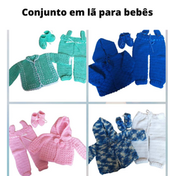 Conjuntos de lã para bebês