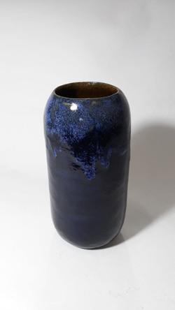 Vaso Cilindro Preto e Azul