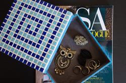 Caixa de Joias mosaico azul