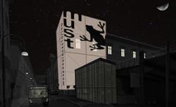 Notturna della facciata esterna