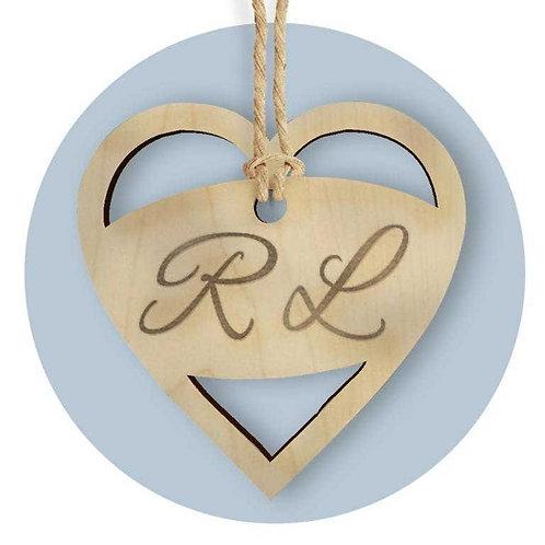 Tag in legno personalizzato per cerimonia 25 pz.