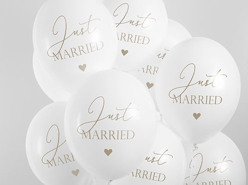 """Palloncini """"Just Married"""" White"""