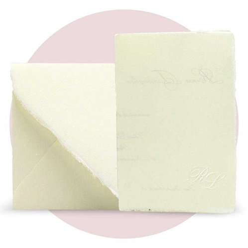Partecipazione in carta pregiata amalfitana avorio