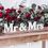 """Thumbnail: SCRITTA IN LEGNO """" Mr & Mrs""""bianca"""