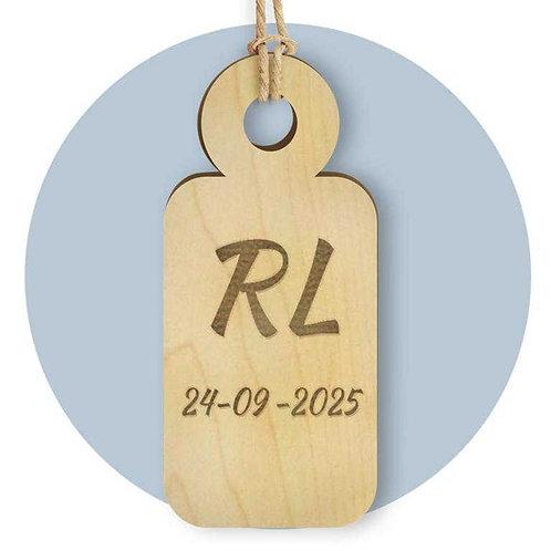 Tag in legno personalizzato per cerimonia 25 pz