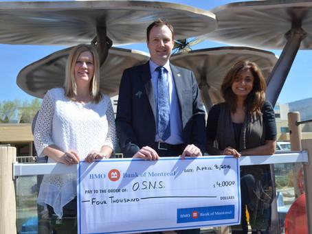 BMO Bank of Montreal Donation!