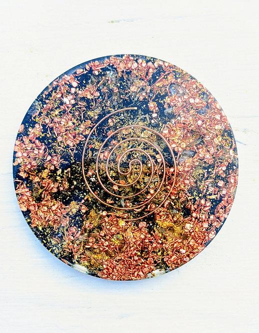 NEW! Handmade 'Yellow Citrine+ Chamomile' Healing Orgonite Charging Plate!