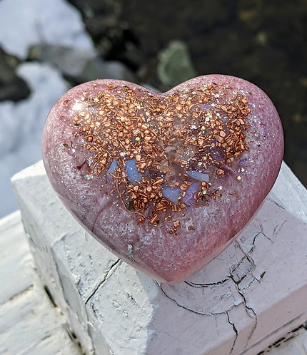 NEW PRODUCT! Divine Love Orgonite Crystal Hearts