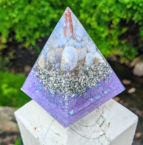 NEW! Tall 'Angel of Sleep' Pointy Orgonite  Crystal Pyramid