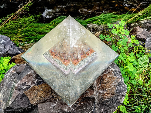 """NEW! EXTRA Large Ethereal Cathedral of Divine Love Giza Orgone Pyramid! ( 8"""")"""