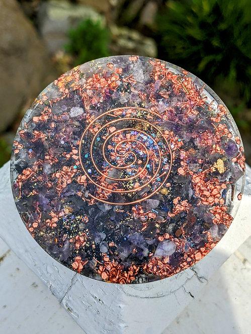 NEW! Handmade 'Purple Amethyst + Lavender' Healing Orgonite Charging