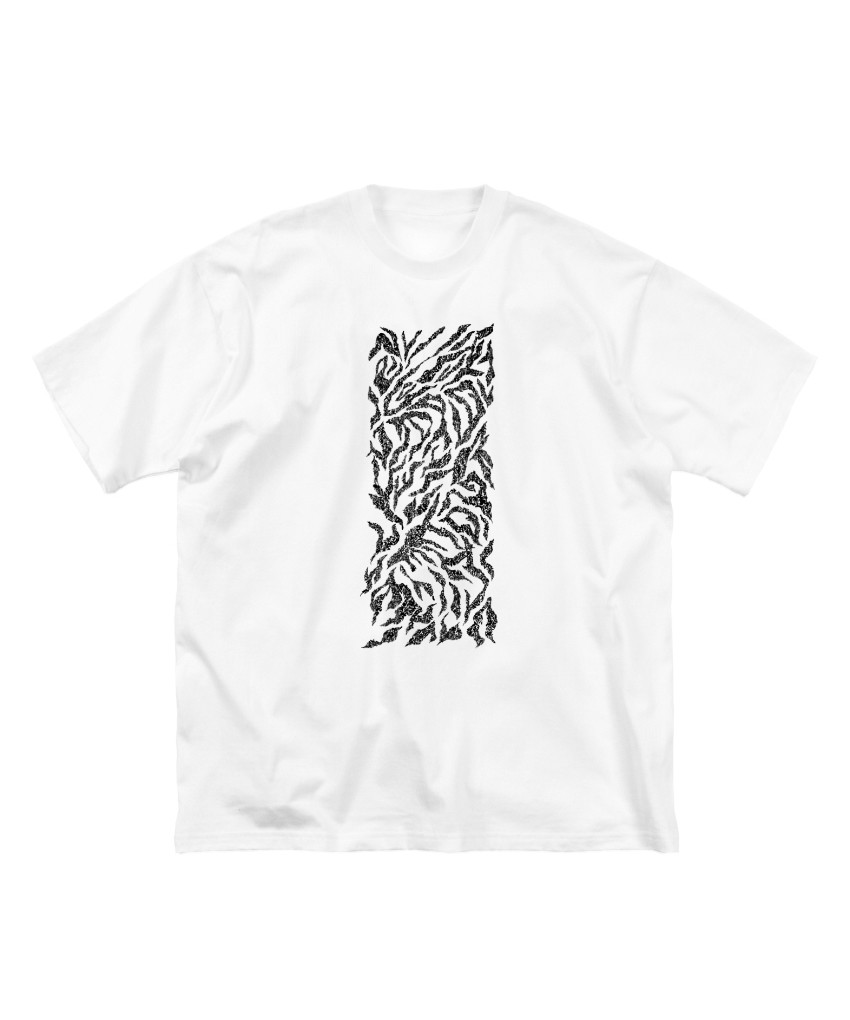 「zebra 般若心経」T-shirt