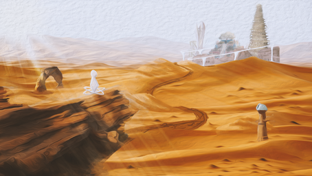 Virtual Desert Concept Illustration