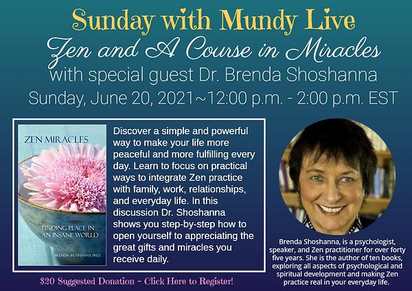 Sunday Live with Brenda Shoshanna June 2