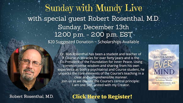 Sunday Live with Bob Rosenthal for cc an